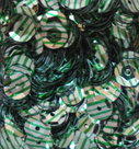 Sequins-8mm-green-on-silver
