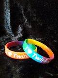 Silicone armbandje I love twirling _