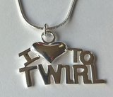 Ketting I love to twirl (Zilver)_