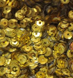 Pailletten 5mm geel