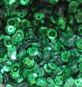 Sequins 5mm green