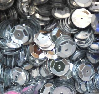Paillettes 8mm argent