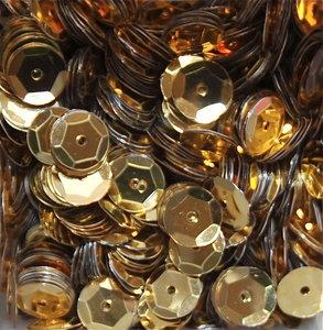 Pailletten 8mm goud