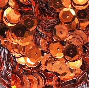 Pailletten 8mm oranje