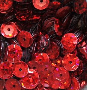 Laserpailletten 8mm rood