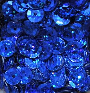Laserpailletten 8mm blauw