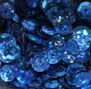Laserpailletten 8mm lichtblauw