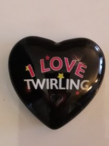 Magneet hart 42mm I love Twirling