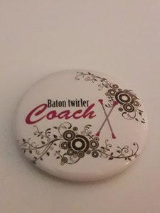 Button Baton Twirler Coach 35mm