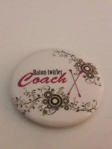 Button Baton Twirler Coach 35mm