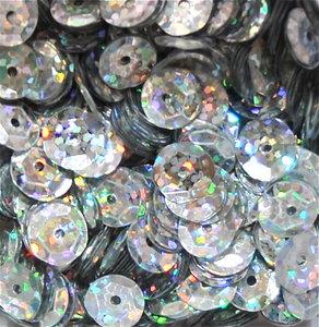 Laserpailletten 5mm zilver