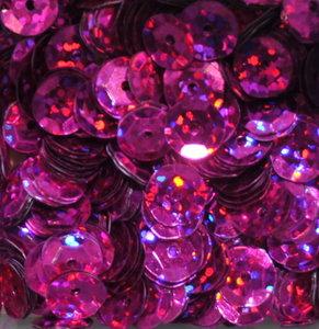 Paillettes Laser 5mm Fuchsia