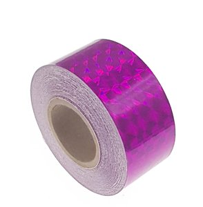 Hologram tape fuchsia 25mm