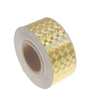 Hologram tape goud 25mm