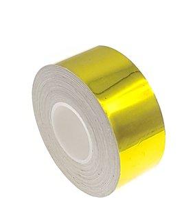 Metallic tape geel 25mm