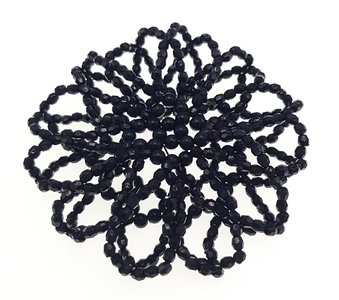 Knotnetje kraaltjes zwart
