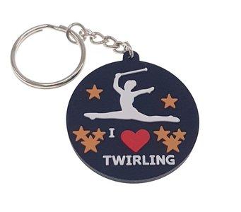Sleutelhanger rubber I love Twirling