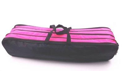 Batontas nylon groot zwart / neon-roze