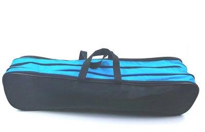 Batontas nylon groot zwart-turqoise/blauw