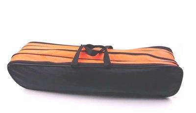 Batontas nylon groot zwart / neon-oranje