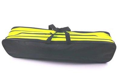 Batontas nylon groot zwart-geel