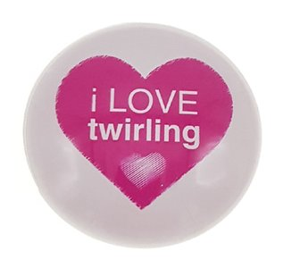 Magneet 50mm I love Twirling