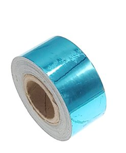 Metallic tape blauw 25mm