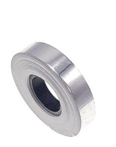 Metallic tape zilver 12.5mm