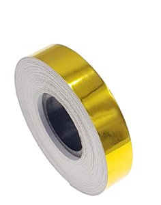 Metallic tape geel 12.5mm