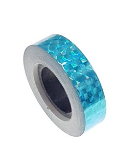 Hologram tape lichtblauw 12.5mm