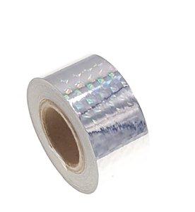 Hologram tape Zilver 25mm