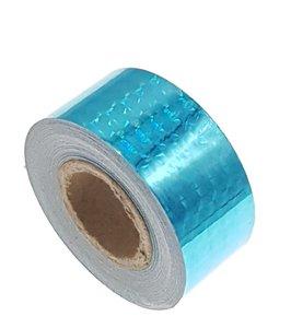 Hologram tape lichtblauw 25mm
