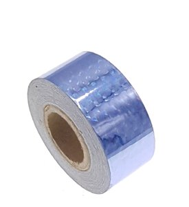 Hologram tape turqoise 25mm