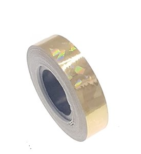 Cracked Ice tape goud 12.5mm