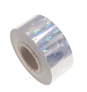 Cracked Ice tape zilver 25mm