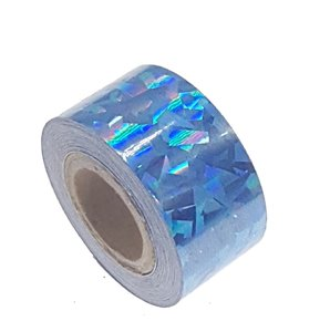 Ruban Cracked Ice Bleu 25mm