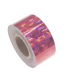 Cracked Ice tape rood 25mm