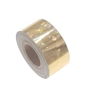 Cracked Ice tape goud 25mm