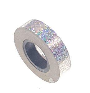 Pailletten tape zilver 12.5mm