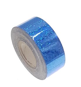 Pailletten tape blauw 25mm