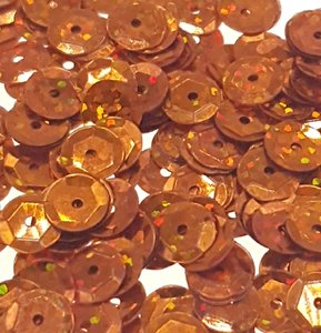 Laser sequins 8mm copper/orange