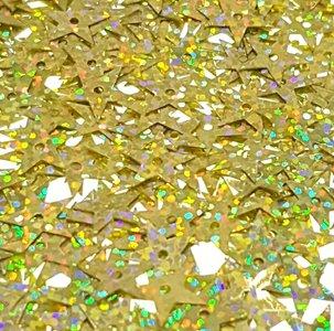 Ster Laser pailletten 13mm goud