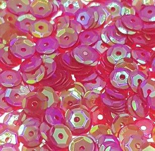 Parelmoer pailletten 5mm rood