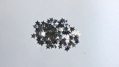 Ster Pailletten 13mm zilver