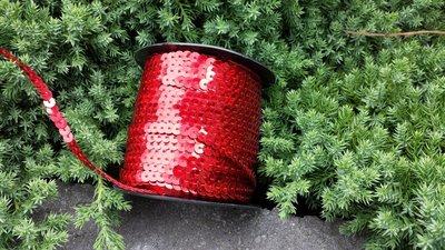Laser Paillettenband rood