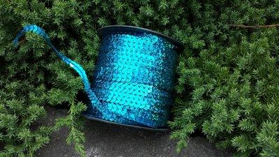 Laser Paillettenband blauw