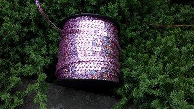 Laser Paillettenband roze