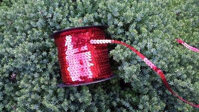 Paillettenband rood