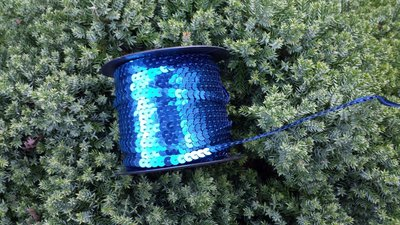 Paillettenband blauw