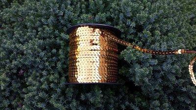 Paillettenband goud